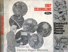 1987 Econoline Ford Electrical & Vacuum Troubleshooting Manual