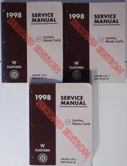 1998 Chevy Lumina, Monte Carlo Service Manual Volume 1, 2, 3