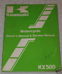 1985 Kawasaki KX500-B1 Owners Service Manual KX 500 Original Factory Shop Repair