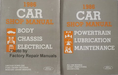 1986 Crown Victoria Grand Marquis Town Car Factory Shop Service Manual Set