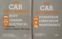 1986 Lincoln Town Car Ford Crown Victoria Mercury Grand Marquis Shop Manual