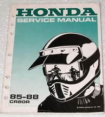 1985 1988 HONDA CR80R Factory Service Manual Original Shop Repair