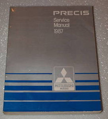 1987 Mitsubishi Precis LS Hatchback Factory Service Manual Original Shop Repair