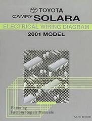 2001 Toyota Camry Solara Electrical Wiring Diagrams Original Factory Manual
