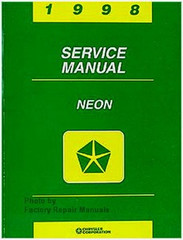 1998 Dodge Neon Plymouth Neon Service Manual