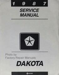 1987 Dodge Dakota Pick-up Truck Factory Service Manual Original Shop Repair