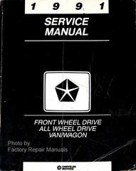 1991 Service Manual Front Wheel Drive All Wheel Drive Van/Wagon