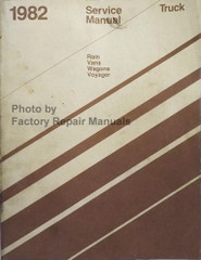 1982 Dodge Ram Van Wagon Voyager Service Manual