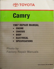 Toyota Camry 1987 Repair Manual Engine Chassis Body Electrical Specifications