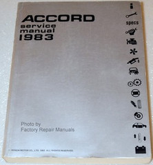 1983 Honda Accord Factory Service Manual Original Shop Repair