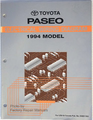 Toyota Paseo Electrical Wiring Diagrams 1994 Model