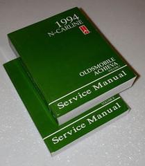 1994 Oldsmobile Achieva Service Manual Volume 1, 2