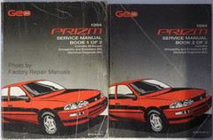 1994 Geo Prizm Factory Service Manual Volume 1, 2