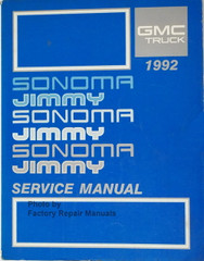 GMC Truck 1992 Sonoma Jimmy Service Manual