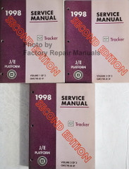 1998 Chevy Tracker Factory Service Manual Volume 1, 2, 3