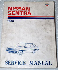 1986 Nissan Sentra Service Manual