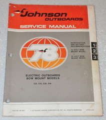 1978 JOHNSON Electric Outboard 12 24 Volt 12V 24V Factory Service Repair Manual
