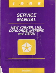 1996 New Yorker Concorde LHS Intrepid Vision Factory Service Manual Shop Repair