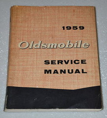 1959 Oldsmobile Super 88 98 Dynamic Fiesta Shop Service Manual Original