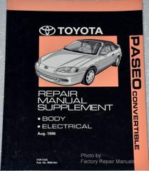 1997 Toyota Paseo Convertible Service Repair Manual Supplement