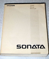 1989 HYUNDAI SONATA Factory Dealer Shop Service Repair Manual 4 Cyl GL GLS 89