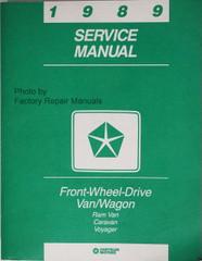 1989 Chrysler Front Wheel Drive Van/Wagon Service Manual