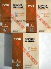1998 Service Manual Chevrolet Cavalier Pontiac Sunfire J Platform Volumes 1, 2, 3
