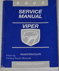2002 Dodge Viper Factory Service Manual
