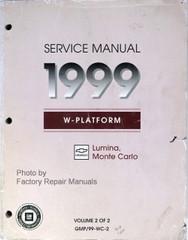 1999 Monte Carlo and Lumina Factory Service Manual Volume 2