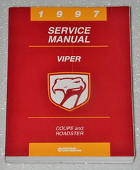1997 Dodge Viper Factory Service Manual - RT10 Roadster & GTS Coupe Original Shop Repair