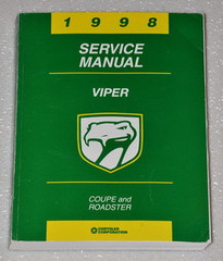 1998 Dodge Viper Coupe and Roadster Factory Shop Service Manual