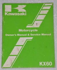 1983 KAWASAKI KX60 KX60-A1 MOTORCYCLE Factory Owners Shop Service Repair Manual