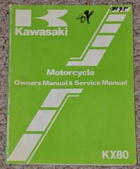 1982 KAWASAKI KX80 KX80-C2 KX80-D2 KX 80 Factory Owners Service Repair Manual 82