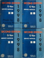 1998 GM G Van Chevy Express GMC Savana Service Manual Volume 1, 2, 3, 4