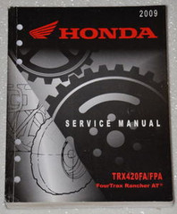 2009 HONDA FOURTRAX RANCHER AT TRX420FA TRX420FPA TRX420FGA Shop Service Manual