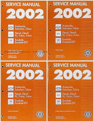 2002 Chevy Tahoe Suburban Avalanche - GMC Yukon Denali - Cadillac Escalade Service Repair Manual Set