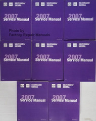 Chevrolet GMC Silverado Sierra 2007 Service Manual Volume 1, 2, 3, 4