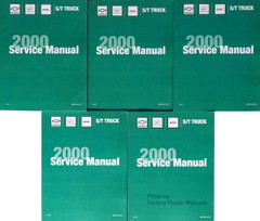 2000 Chevrolet GMC Oldsmobile ST Truck Service Manuals