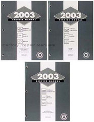 2003 Trailblazer, Trailblazer EXT, Envoy, Envoy XL, Bravada Service Manual Volumes 1, 2,  3