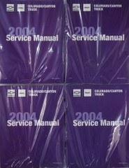 2004 Chevrolet Colorado GMC Canyon Service Manual Volume 1, 2, 3, 4