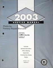 2003 Service Manual Cadillac Seville Volumes 1 and 2