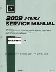 GM 2009 N-Truck Service Manual Hummer H2
