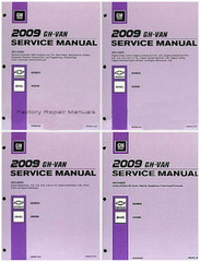 2009 GH/Van Service Manual Chevrolet Express, GMC Savana Volume 1, 2, 3, 4