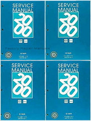 2000 Chevy Express Van GMC Savana 1500 2500 3500 Factory Shop Service Manual Volume 1, 2, 3, 4