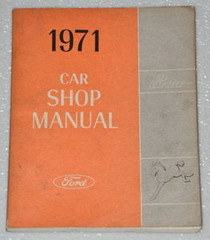 1971 Ford Pinto Shop Manual