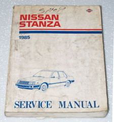 1985 Nissan Stanza Factory Service Manual