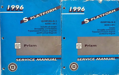 1996 Chevrolet Geo Prizm Service Manual Volume 1, 2