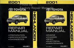 2001 Toyota Highlander Repair Manual Volume 1, 2
