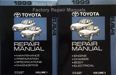 1999 Toyota RAV4 Repair Manuals Volume 1, 2