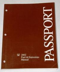 2002 HONDA PASSPORT LX EX Factory Dealer Fuel & Emissions Shop Service Manual 02